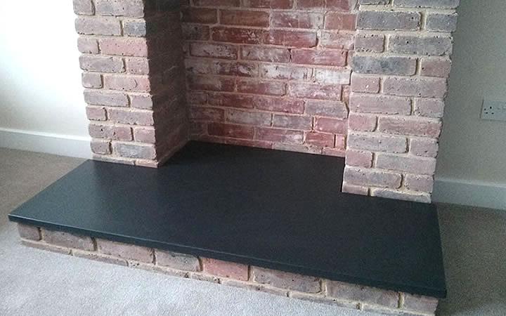 Black Modern Fireplace