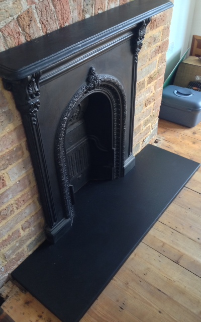 Custom Slate Hearths Made To Measure Italian Black Slate